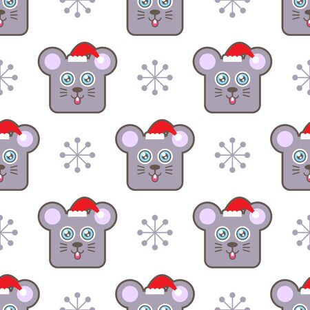 Santa mouse background pattern.