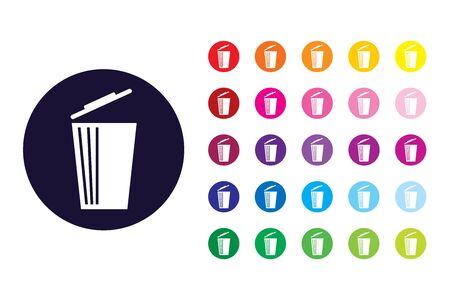 Trash bin sign icon. Trash bin color symbol. Stock Illustratie