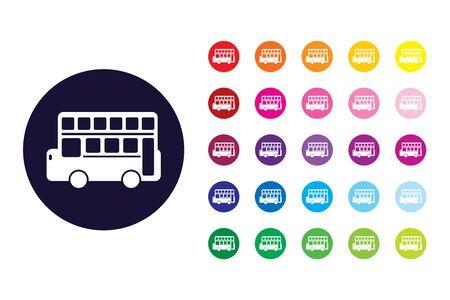 Bus sign icon. Bus color symbol. Stock Illustratie