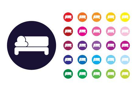 Sofa sign icon. Sofa color symbol.