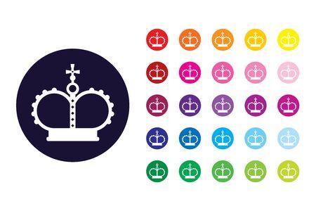 Kingdom sign icon. Kingdom color symbol.