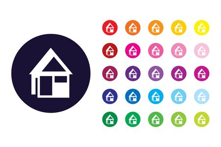 House sign icon. House color symbol. Illustration