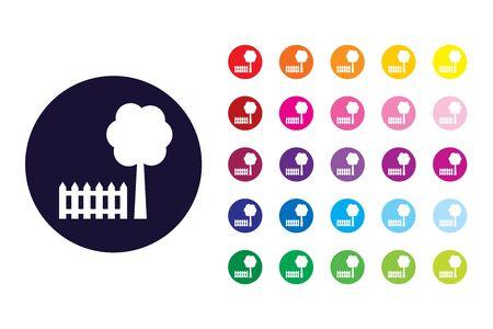 Garden sign icon. Garden color symbol.