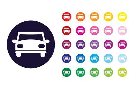 Car sign icon. Car color symbol.