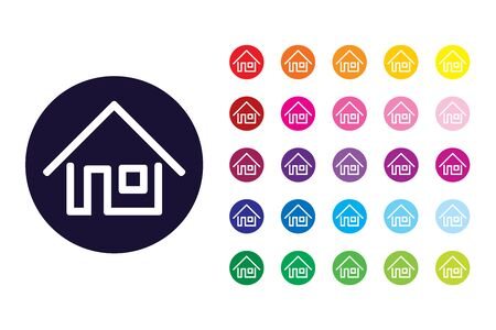 House sign icon. House color symbol. Stock Illustratie