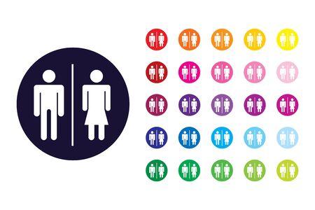 Restroom sign icon. Restroom color symbol.