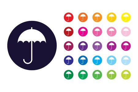Umbrella sign icon. Umbrella color symbol.