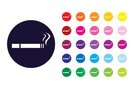 Smoking sign icon. Smoking color symbol.