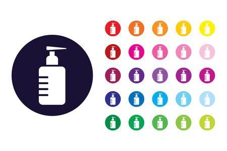 Bottle soap sign icon. Bottle soap color symbol.