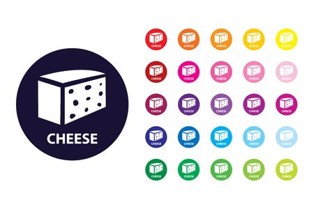 Cheese sign icon. Cheese color symbol.