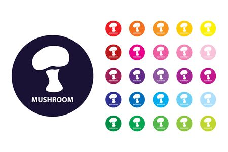 Mushroom sign icon. Mushroom color symbol.