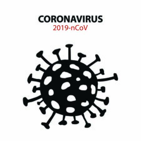 Coronavirus stop sign illustration. Covid-19 virus stop sign illustration.
