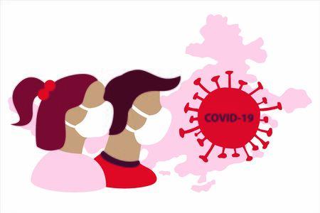 Coronavirus illustration. Covid-19 virus illustration.