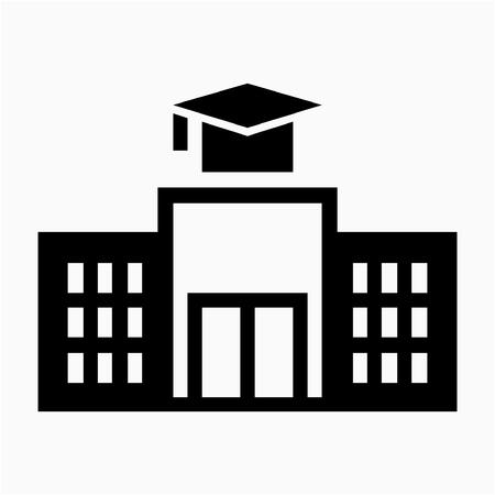 Glyph school building  pixel perfect vector icon