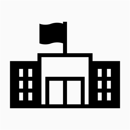 Glyph government building pixel perfect vector icon Illustration