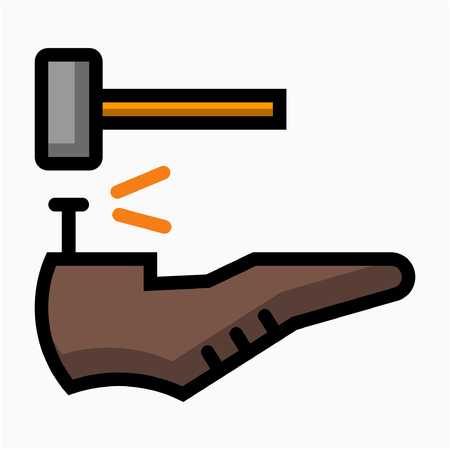 Flat Shoemaker pixel perfect vector icon Иллюстрация