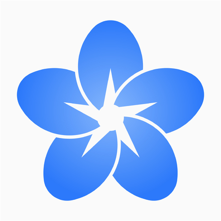 Flat Forget me not flower love pixel perfect vector icon