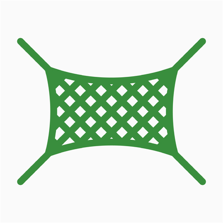 Coloured outline safety net pixel perfect vector icon