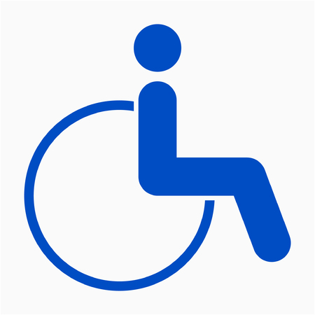 Flat wheelchair pixel perfect vector icon