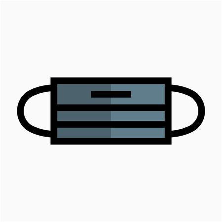 Farbige Umrissgesichtsmaske Pixel perfektes Vektor-Symbol