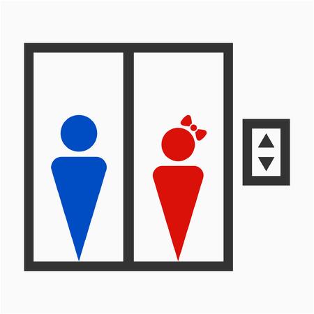 Flat elevator pixel perfect vector icon