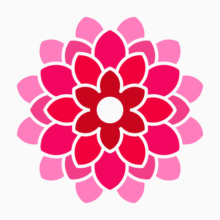 Flat Dahlia flower pixel perfect vector icon