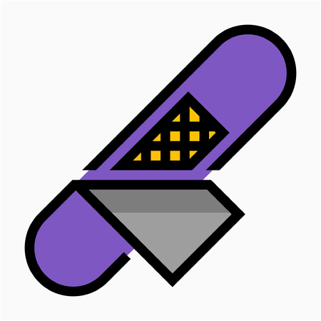 Coloured outline first aid bandage pixel perfect vector icon