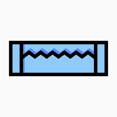 Coloured outline Chew gum pixel perfect vector icon