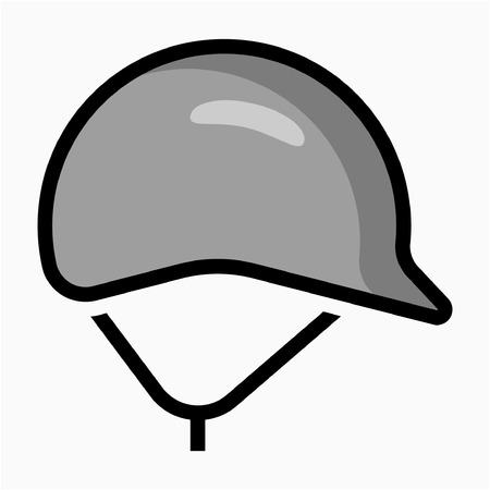 Coloured outline safety helmet pixel perfect vector icon