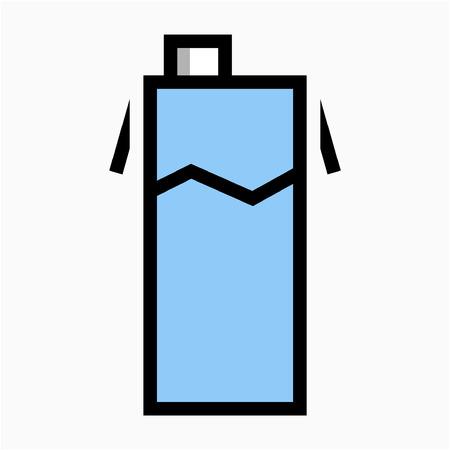 Coloured outline Milk pixel perfect vector icon Çizim