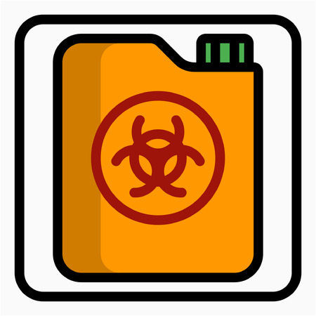 Coloured outline Chemical industry pixel perfect vector icon Illustration