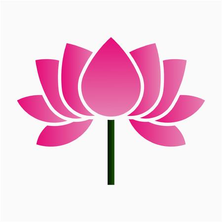 Flat Lotus flower pixel perfect vector icon