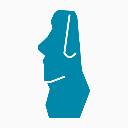 Flat Chile Easter Island pixel perfect vector icon Standard-Bild - 106509059