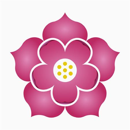 Flat Lotus flower Patience Purity pixel perfect vector icon Ilustração