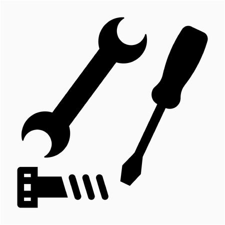 Glyph repairman pixel perfect vector icon Фото со стока - 106585998