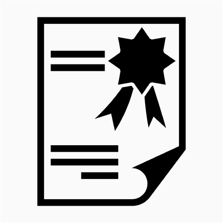Glyph certification pixel perfect vector icon