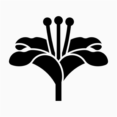 Glyph Lily flower pixel perfect vector icon