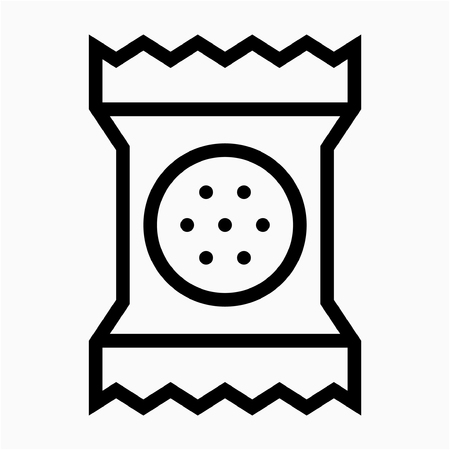 Outline Packaged cracker pixel perfect vector icon
