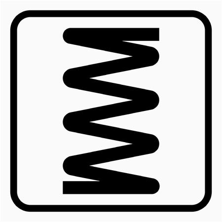 Glyph Metal industry pixel perfect vector icon Ilustração
