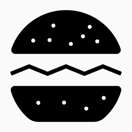 Glyph hamburger pixel perfect vector icon Illustration