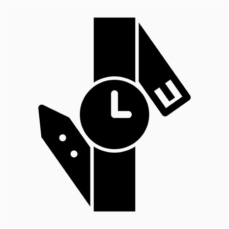 Glyph watch pixel perfect vector icon