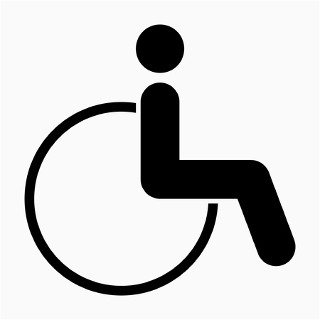 Glyph wheelchair pixel perfect vector icon