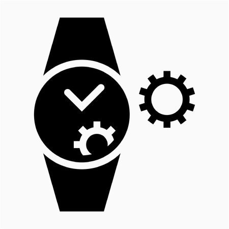 Glyph Watchmaker pixel perfect vector icon