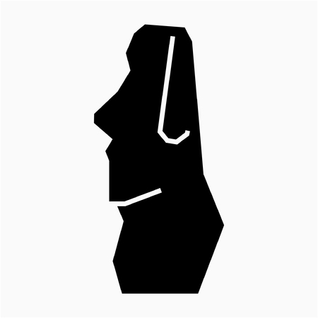 Glyph Chile Easter Island pixel perfect vector icon Illustration