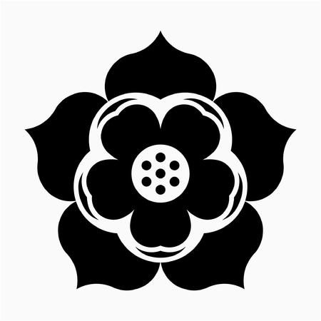 glyph Lotus flower pixel perfect vector icon