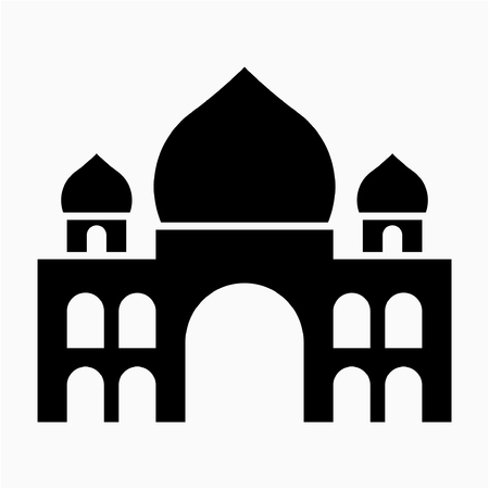 Glyph Taj Mahal mausoleum pixel perfect vector icon