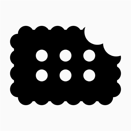Glyph biscuit pixel perfect vector icon