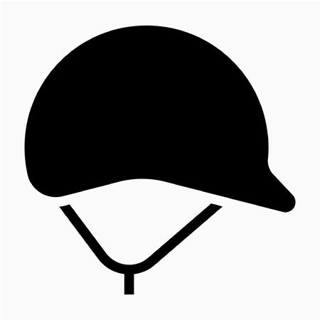 Glyph safety helmet pixel perfect vector icon