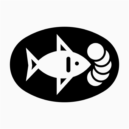 Glyph Fish pixel perfect vector icon