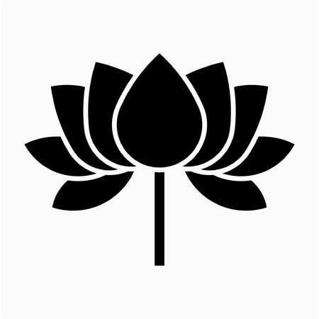 Glyph Lotus flower pixel perfect vector icon Ilustração